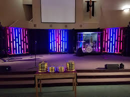 Photo Frame Light Design Light Chimes Church Stage Design Ideas Scenic Sets And