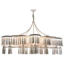 viyet designer furniture lighting fisher weisman plank paper mache 20 light chandelier