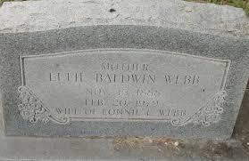 Effie Baldwin Webb (1888-1979) - Find A Grave Memorial
