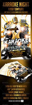 Karaoke Night Flyer Template Karaoke Night Flyer Template By Crabsta24 GraphicRiver 12