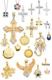 gold and silver charms selection