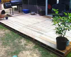 Patio From Pallets Solution To Pallet Gaps Use 1x Strips To Fill The Gaps And