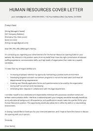 Best Cover Letter Human Resources Hr Cover Letter Example Resume Genius