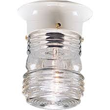 outdoor ceiling flush mount light fixture with clear marine glass white progress lighting