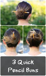Chopstick Hairstyle 3 easy pencil bun ideas backtoschool hairstyles cute girls 5377 by wearticles.com