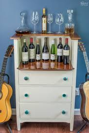 shades of wood furniture. diy furniture makeover upcycled wine bar from dresser to shades of wood