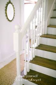 Painted Wood Stairs 84 Best Staircase Makeovers Images On Pinterest Stairs