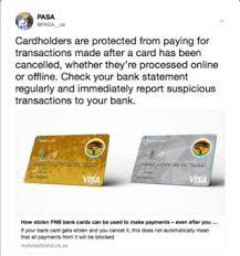 You can use this card to pay weekly or monthly by cash or debit card at any paypoint. How Stolen Fnb Bank Cards Can Be Used To Make Payments Even After You Cancel Them Page 2 Mybroadband Forum
