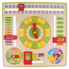 Intelligent Early Learning Education Wooden Calendar Toy
