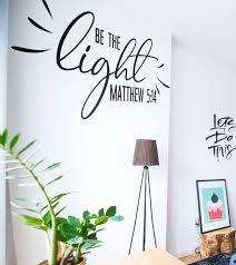 Christian Prayer Wall Designs Be The Light Mathew 5 14 Prayer Wall Decal Sticker