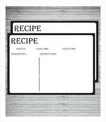 Openoffice Recipe Card Template Templates For Recipe Cards Sociallawbook Co