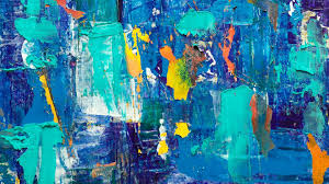Usually, the owners choose to change the. Desktop Wallpaper Blue Themed Abstraction Painting Art Hd Image Picture Background 9aa4c7