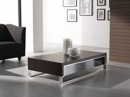 image of modern coffee table set chrome and glass