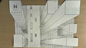 perspective drawings of buildings. Exellent Buildings How To Draw  One Point Perspective 3d Illusion Highrise Buildings  YouTube On Perspective Drawings Of Buildings N