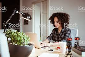working for home office. Exellent Home Beautiful Young African Woman Working In Home Office Royaltyfree Stock  Photo Throughout Working For Home Office