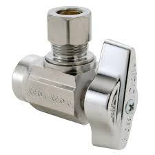 ball valve shut off. brasscraft 1/2 in. nominal sweat inlet x 3/8 o.d. compression outlet 1/4-turn angle ball valve-ktr19x c1 - the home depot valve shut off