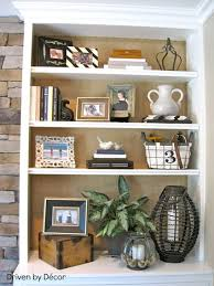 Bookcase Back Panel Ideas: Give warmth to an all white bookcase by adding  burlap to. Driven By Decor