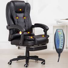 home office computer desk massage chair with footrest reclining executive ergonomic heated vibrating office chair furniture