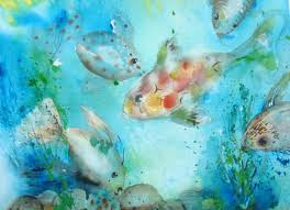 image titled big fish in blue water
