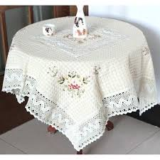 dining tables round dining table cloth handmade ribbon embroidery tablecloth handma embroiry covers home cor