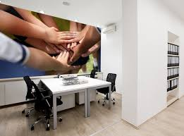 Office wall mural Printed Wall Careful Attention To Office Design Improves Energy And Productivity Not To Mention Improving Professional Relationships And Increasing Creativity Limitless Walls Office Wall Murals Office Removable Wallpaper Limitless Walls