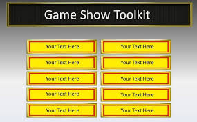 Powerpoint Game Show Template Game Show Toolkit For Powerpoint Presentations