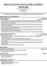 Restaurant Manager Resume Skills Executive Store Manager Resume Keywords Operations Manager Resume