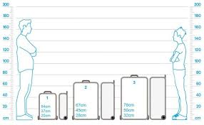 Delsey Luggage Size Chart Size Guide Tripp Ltd
