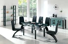 black and white dining table set: dining roomcontemporary black dining room sets with round shape dining table ideas modern sleek