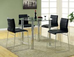 furniture rounded tempered glass dining table with chromed metal legs as well as bistro table