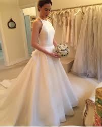 ivory wedding dresses halter open back wedding dress wedding gowns