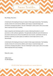 Free Personal Letterhead Templates Word New Orange Chevron Personal Letterhead Templates By Canva