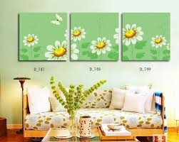 cartoon flower wall art picture modern painting canvas printed home decor artwork mural for kids room bedside decor