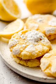 Ingredients for german lemon heart cookies: Lemon Crinkle Cookies