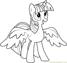 Small Picture Princess Twilight Sparkle Coloring Page Free My Little Pony