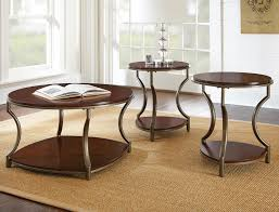 steve silver maryland 3 piece coffee table set in medium cherry