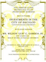 Seminar Invitation Templates Formal Corporate Invitation Wording Memokids Co
