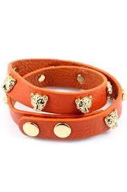 wrap faux leather metal leopard head bracelet 010960 bracelst womens fashion bracelets bracelets gold sliver bracelets pandora bracelets diamond