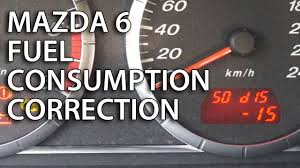 How to calibrate fuel consumption in Mazda 6 (trip computer ...