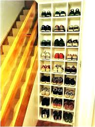 wooden shoe rack wood shelf shoes shelves full size of closet diy for plans unfinished how to