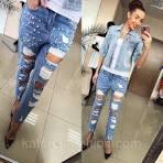 Фото модные рваные джинсы 72