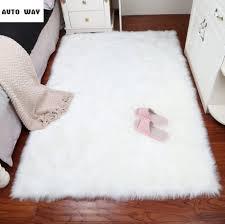 Plüsch Teppich Schlafzimmer Nachahmung Wolle Schaufenster Matte Weiß