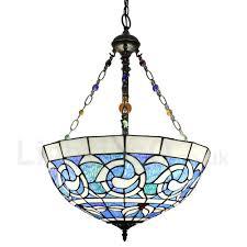 diameter 40cm 16 inch handmade rustic retro chandeliers multicolor pattern glass shade bedroom living