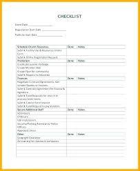Event Checklist Templates Doc Free Premium
