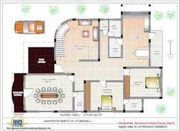 luxury indian home design with house plan nano and elevation