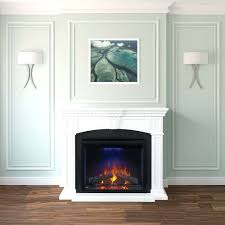 full image for electric napoleon fireplace mantel series lifestyle view white corner a center dimplex