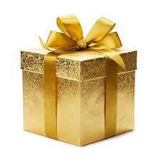 Image result for gold present box png