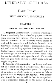 the project ebook of elementary guide to literary literary criticism