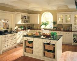 French Country Kitchen Faucet French Country Kitchen Cabinets Black Granite Countertop Brown