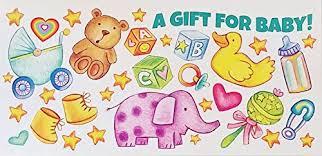 Newborn Congratulation Card A Gift For Baby Money Check Holder Greeting Card Congratulations